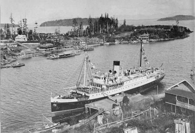 Princess Nora Docked at Bamfield at the Entrance to Barkley Sound on the West Coast of Vancouver Island