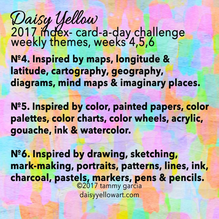 ICAD 2017 Week 5 Prompts & Themes