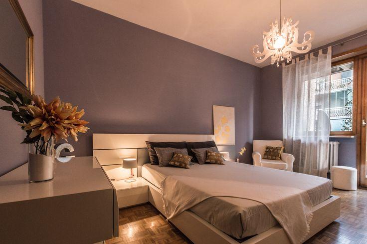 Home Staging di un appartamento semi-arredato in vendita a Venaria (Torino). Camera da letto. (12/2015)