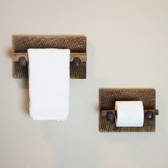 Barn Wood Toilet Paper Holder rustic toilet by TumbleweedCabin