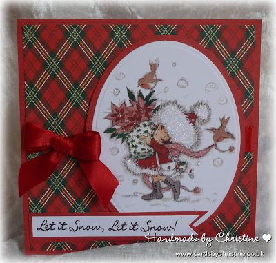 LOTV - Tis the Season Art Pads. Card by Christine Levison