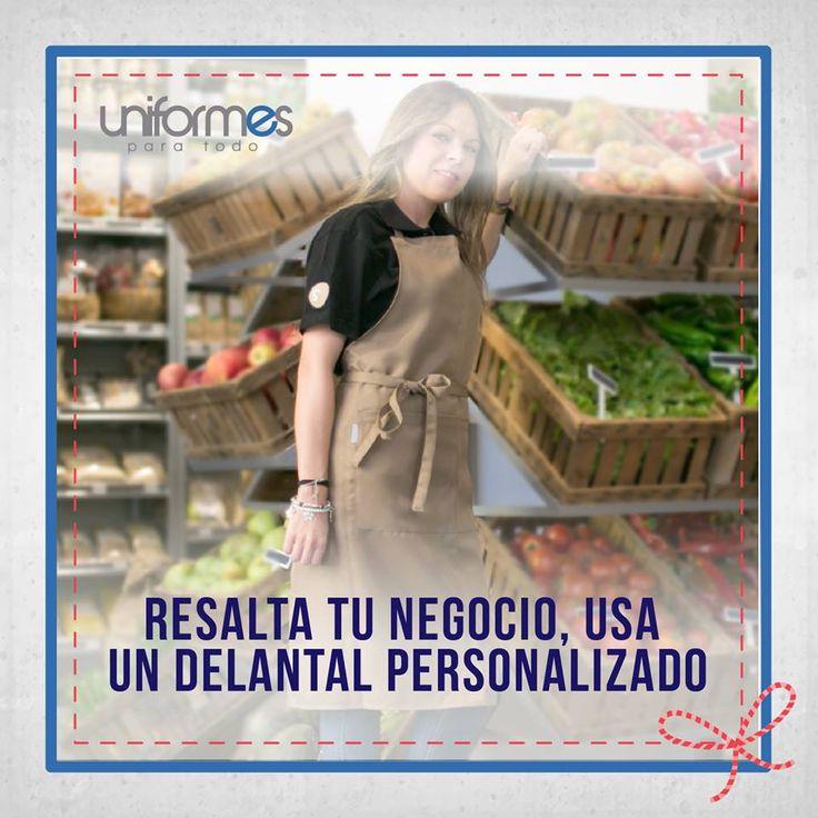 ¿Tienes una tienda? ¡No te imaginas la gran diferencia que puedes hacer con un delantal personalizado! Contáctanos y te ayudamos a diseñarlo.   www.uniformesparatodo.com