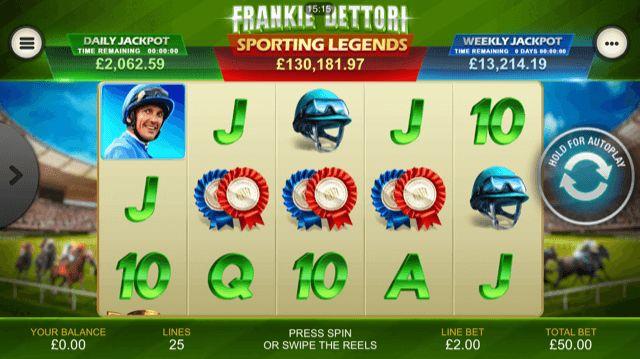 Frankie Dettori Sporting Legends Slot Review | Playtech