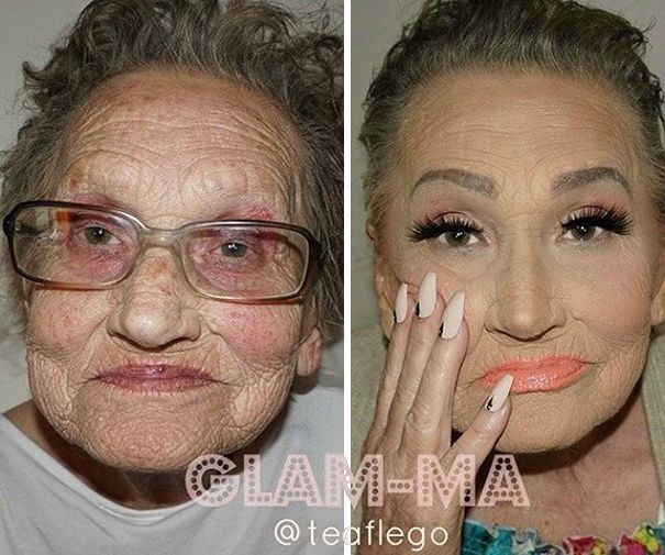 Croatian makeup artist Tea Flego is showing the whole world how a clever use of makeup can get rid of at least 20 years of age. And what was supposed to be a showcase of the artist's incredible contouring skills have also turned out to be a heartwarming proof of granddaughter and grandmother special bond.