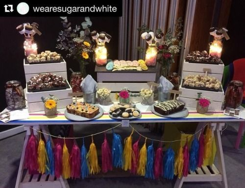 Delighted to have our insta pal @wearesugarandwhite decorating her table with some of our tassels at a very special event! 💗💛💙  #Repost @wearesugarandwhite (@get_repost) ・・・ All setup for tonight's event very excited to be part of such a great event #stv #stvchildrensappeal #glasgow (at STV)