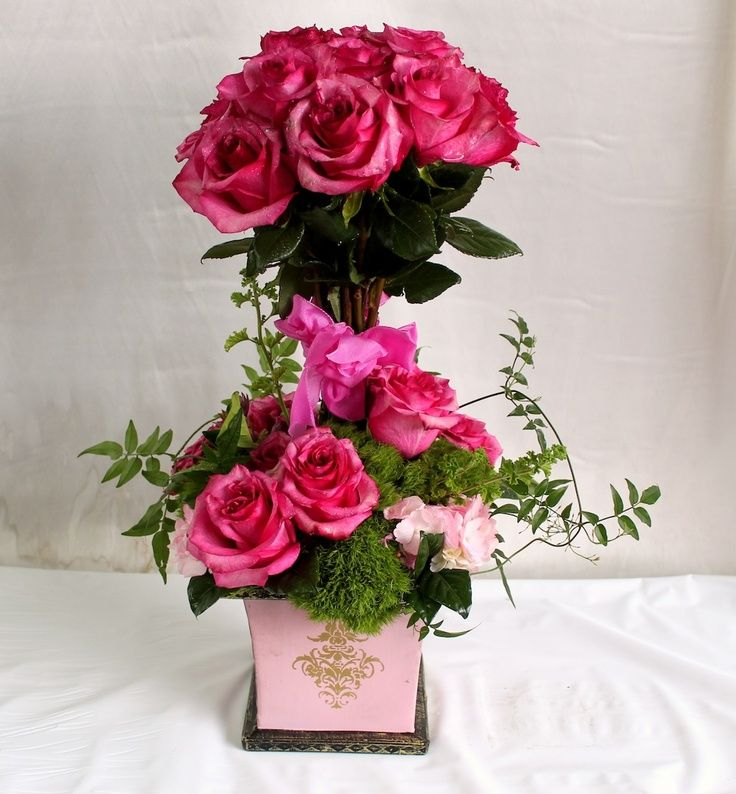 664 best flower arrangement ideas images on pinterest for Flower arrangements valentines day