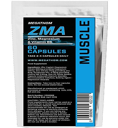ZMA supplement | Fast Muscle Growth with ZMA Muscle Q3 | Natural Testosterone booster and Best Muscle Recovery supplement (60 tablets) Premium quality 100% Guarantee! | Body Building Tips and Advice