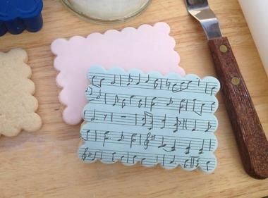 MUSIC & SCROLL Stamp - Stamp a Cake