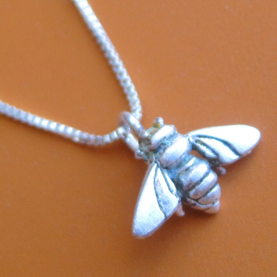 Bumble Bee Necklace. $30.00, via Etsy.