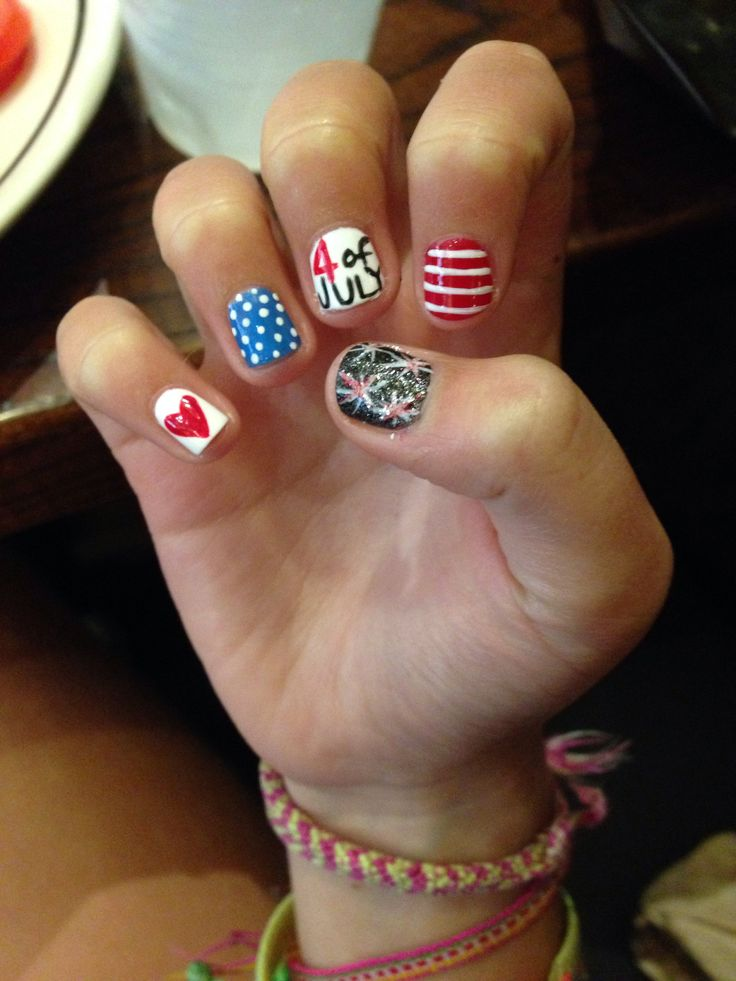 my forth of July nails!