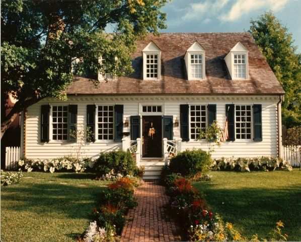 17 best images about exterior cape cod colonial on for Williamsburg style house plans