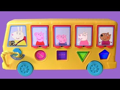 Peppa Pig Pop-Up Surprise Pals School Bus Toy Nickelodeon Baby ...