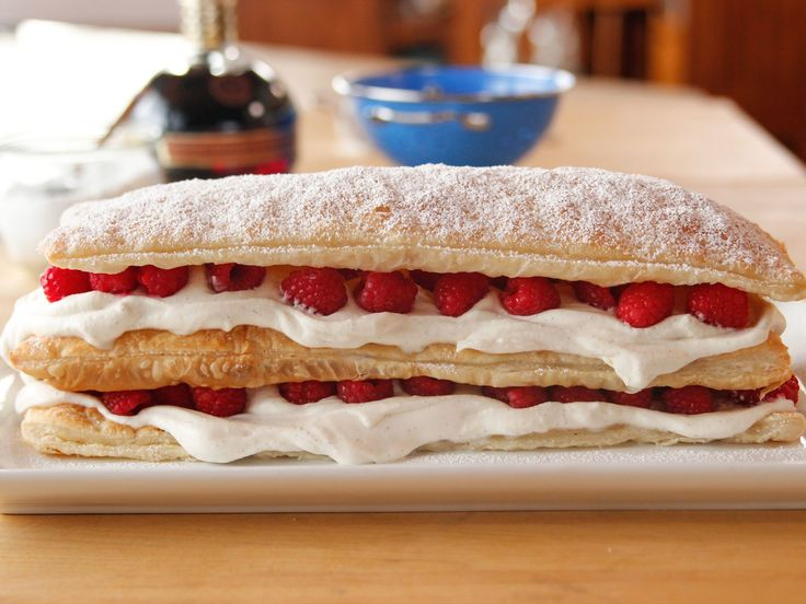 Marvelous Mille-Feuille recipe from Ree Drummond | Food Network. Note: Made with puff pastry. {Quick and Easy}