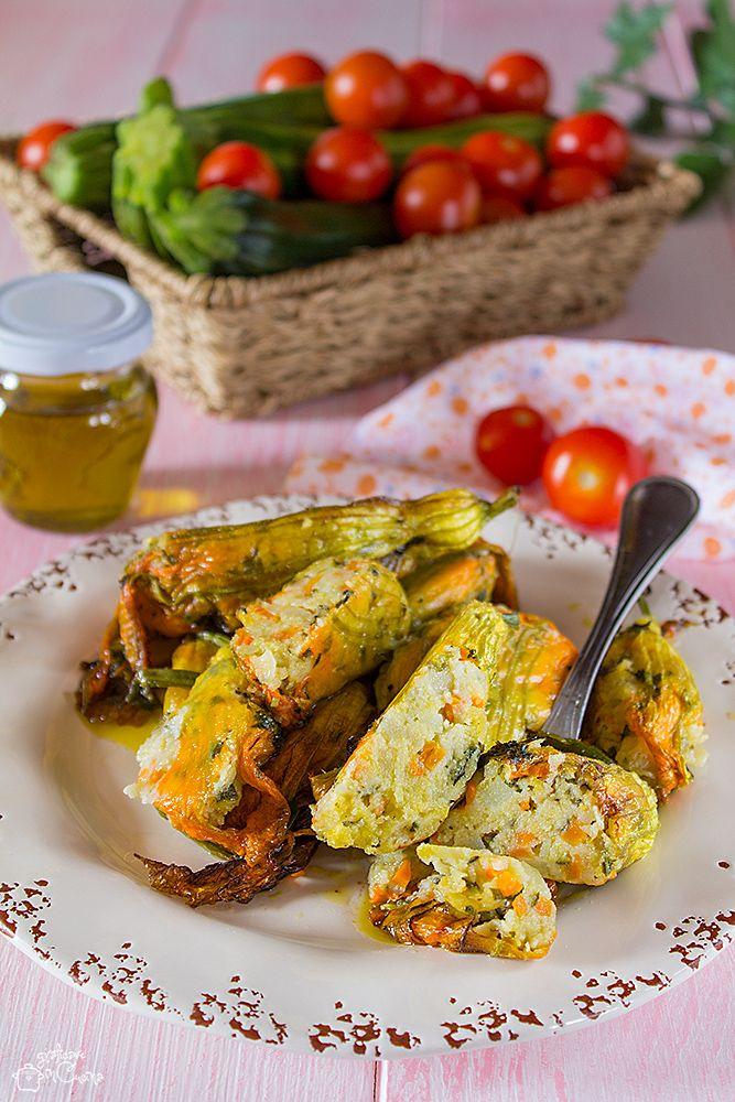 fiori di zucchina ripieni ricetta vegetariana fiori di zucchina