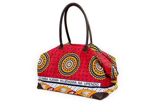 Large Red Orange toggled Kanga Bag