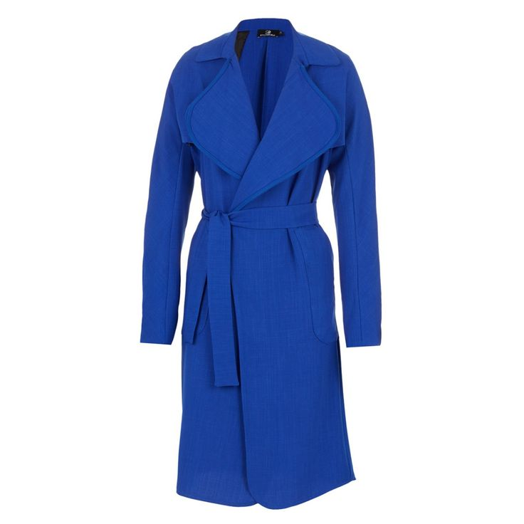 Waterfall Trench Coat Cobalt