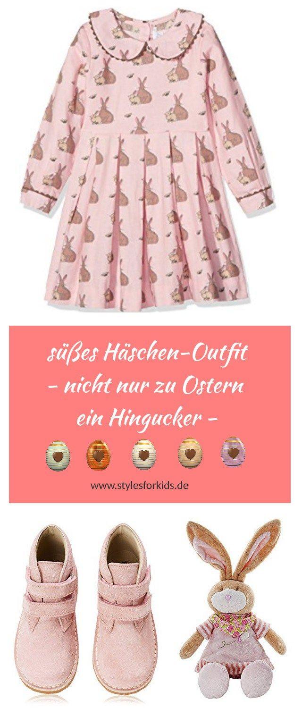 Süßes Oster-Outfit für Mädchen - verspielt und festlich - rosa Häschen-Kleid und passende Accessoires #Outfit #Mädchen #Ostern #Festlich #Osterhase