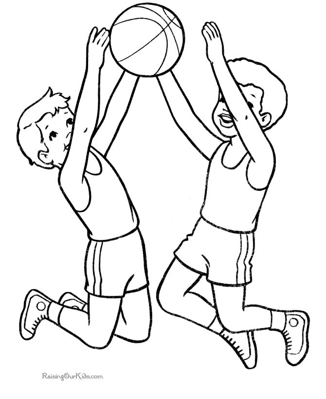 Basketball color page to print Coloring Pages