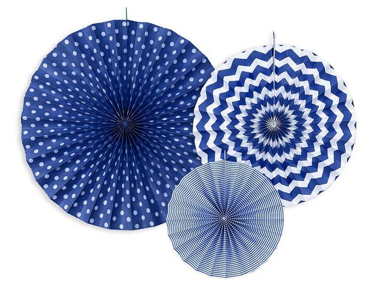 Paperiviuhkat 3 kpl / sininen