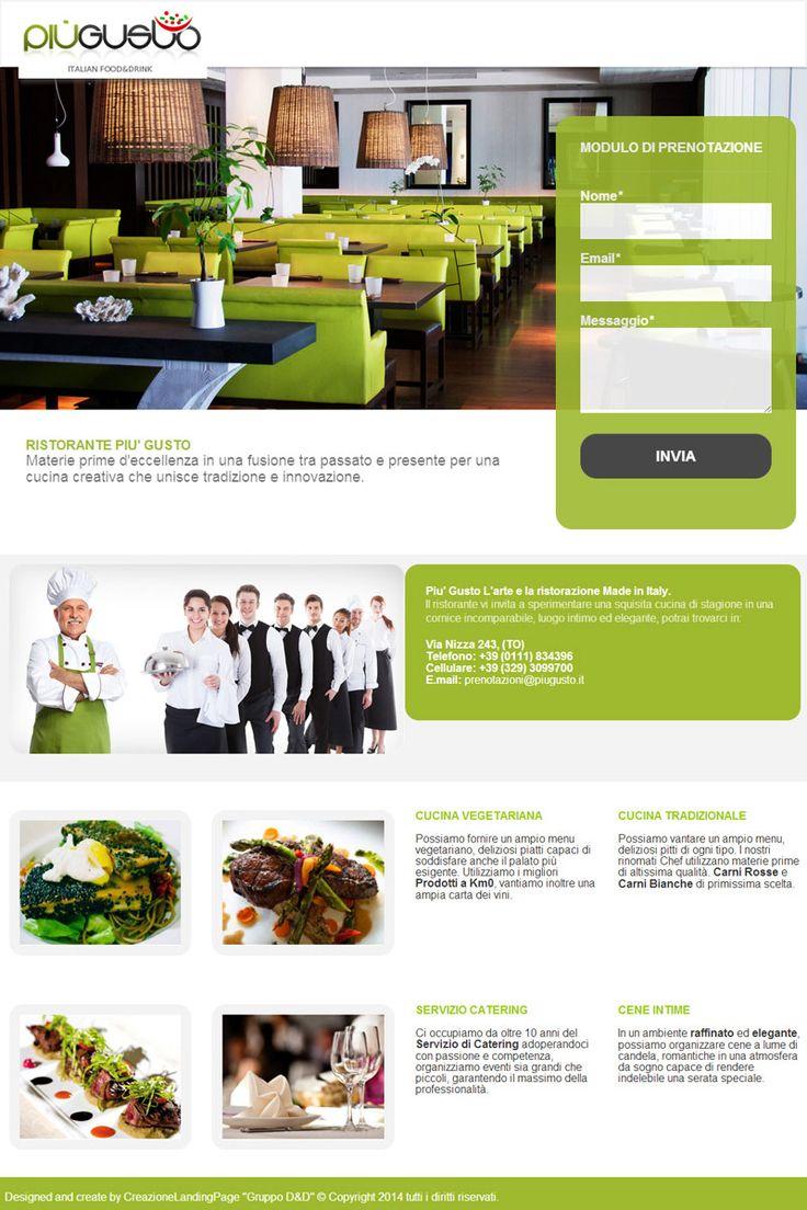 landing page http://ristorantepiugusto.com/