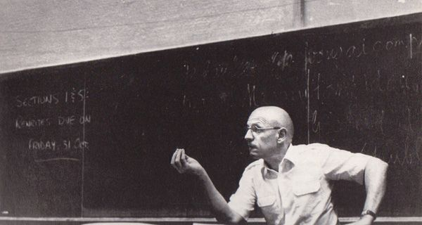 Michel Foucault lecturing at Berkeley (Randy Badier)