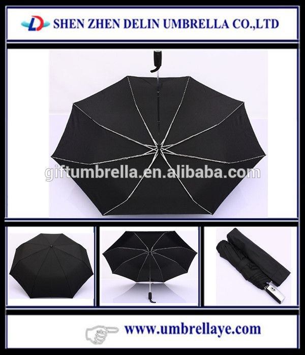 Auto open 3 folding good quality wholesale umbrella metal art