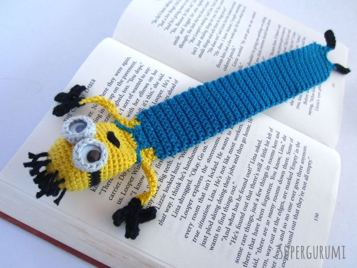 Amigurumi Minion Bookmark crochet by Supergurumi