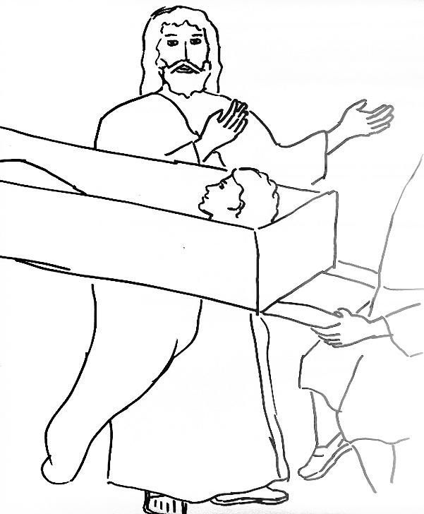 Jesus Heals The Widows Son Jesus Heals Coloring Pages Bible Class