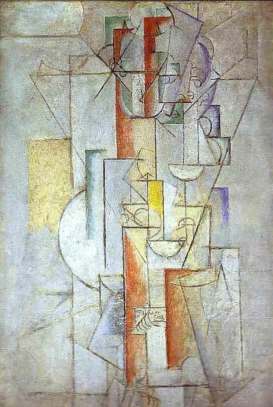Pablo Picasso, Nude, I love Eva. 1912, Museum of Art, Columbus, OH, USA