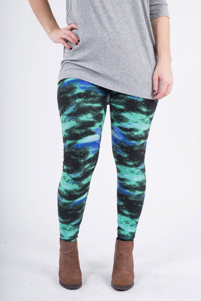Agnes & Dora - Galaxy Leggings Outta this World Out of this World Green Space Legging outfit