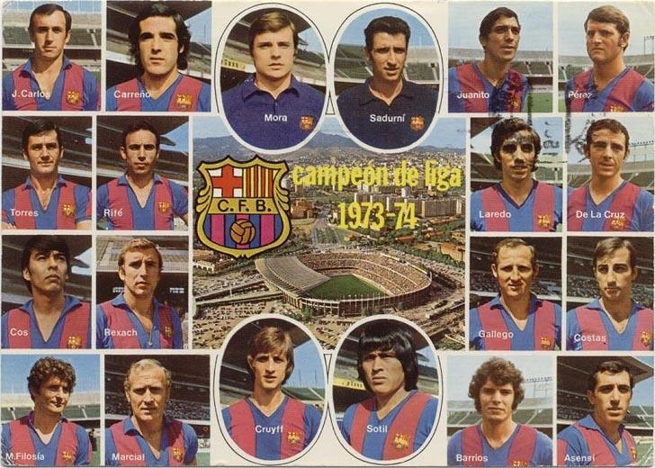 Plantilla campeona de Liga 1974