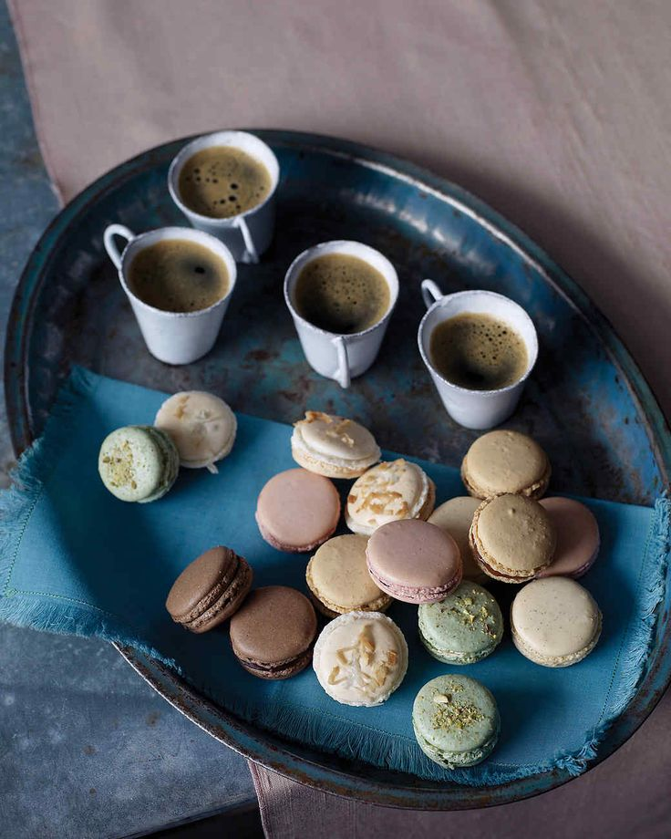 Macarons are light-as-a-feather French confections that can be assembled pulling from a mix-and-match palette of sweet fillings and bases. Our recipe for this sophisticated French treat offers variations for vanilla bean, chocolate, peanut, coconut, raspberry and pistachio macarons.