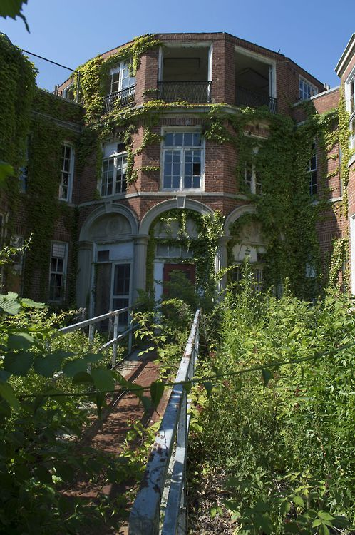 Overgrown building in Long Island, NY