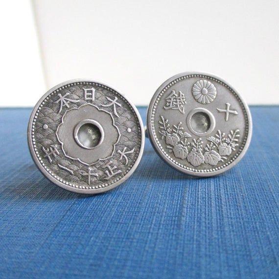 Vintage Japan Coin Cufflinks