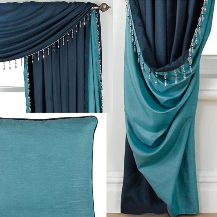LLB Curtains - love this colour, with beaded edging and matching cushions available