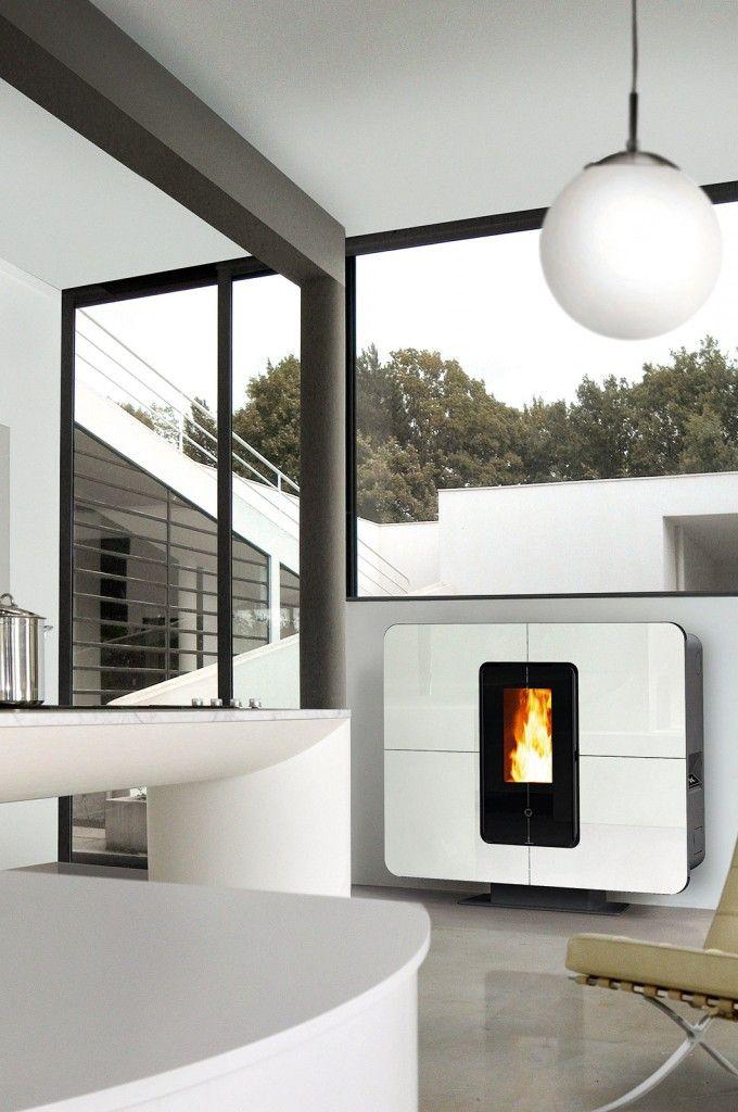 Stufa a pellet SlimQuadro 11 di Thermorossi #thermorossi #stufe #stufa #stufapellet #riscaldamento #home #casa #cosedicasa #design