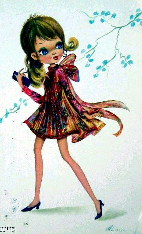 Vintage girl alain