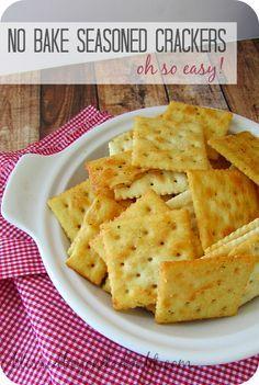 You will love these so easy seasoned saltine crackers! No bake recipe!
