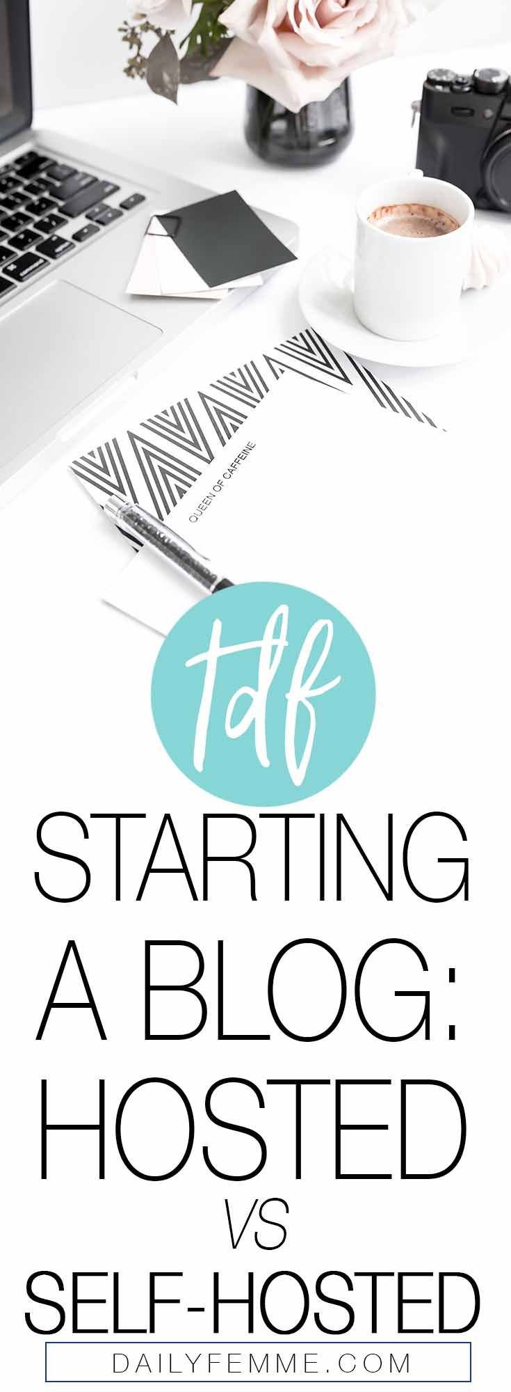 Have you been thinking about starting a blog? Confused about whether or not you should be going with hosted or self-hosted? Here's what you should do. Blogging | Start a Blog | Blog Hosting | Which Hosting Service | Blog | How to Blog | How to start a blog | Blogger | Blogging Tips | Blogging Advice
