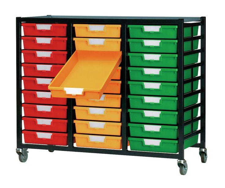 27 Tray Mobile Metal Rack Wayfair Makerspace Storage