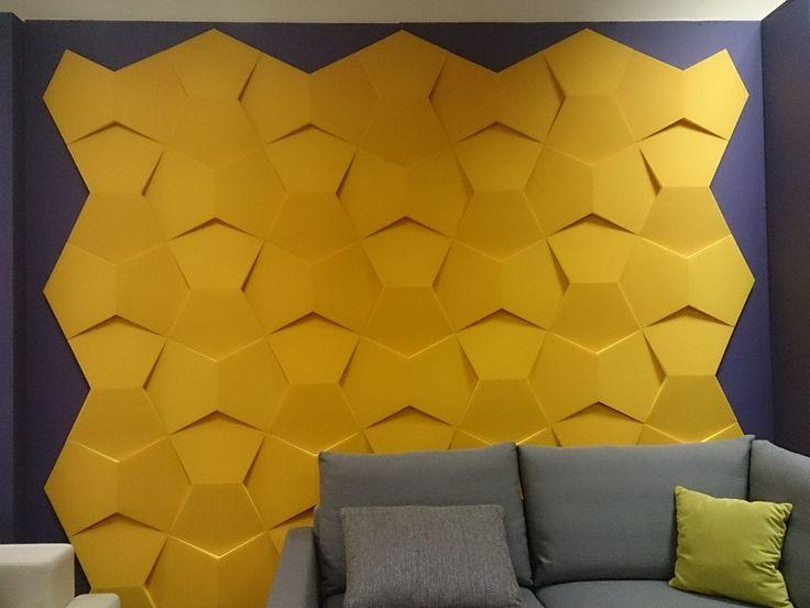 Fluffo, Fabryka Miękkich Ścian - aranżacja ściany w salonie. Projekt by: osoba prywatna.