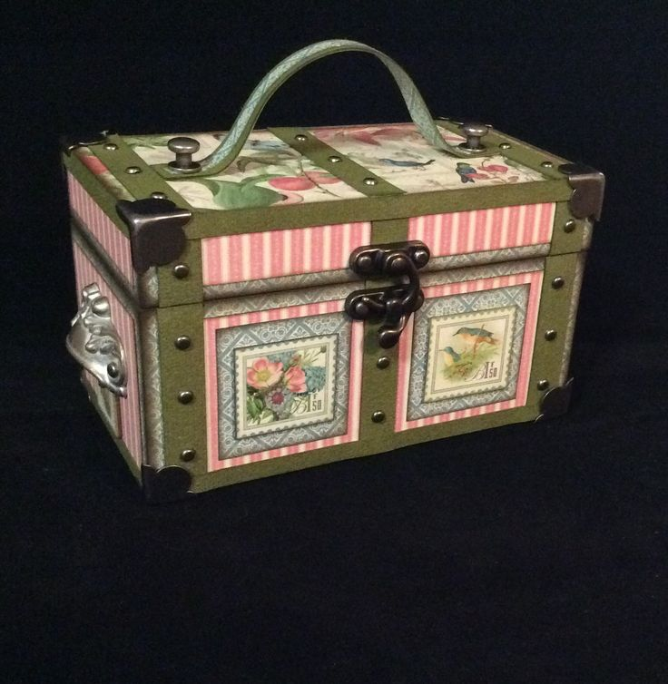 How to Make a Graphic 45 Mini Trunk by Andrew #graphic45 #tutorials