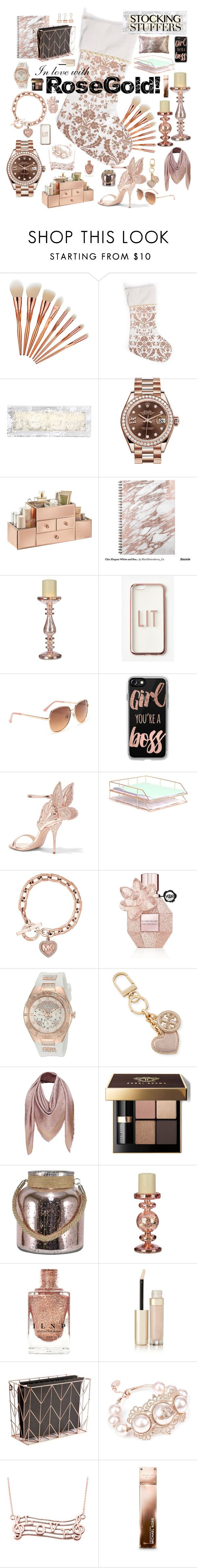 """""""In Love With Rose Gold!"""" by ladydivaboss ❤ liked on Polyvore featuring interior, interiors, interior design, home, home decor, interior decorating, Hanky Panky, Rolex, Missguided and Aéropostale"""