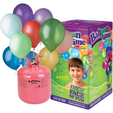 Helium Tank Kit with 30 Latex Balloons - Party City