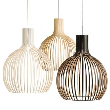 The Octo lamp, designed by Seppo Koho for Secto Design, has a wooden shade which is hand-made from Finnish birch by highly skilled craftsmen. As the other Secto Design lamps by Seppo Koho, also the Octo lamp is well-known outside Finland as well for its clear Scandinavian feel.