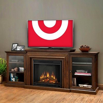 Real Flame - Frederick Electric TV-Media Fireplace-Chestnut Oak, Chestnut Oak