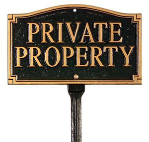 Private Property Statement Plaque | Signs & Plaques 10199
