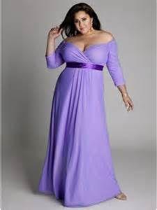 Purple Plus Size Bridesmaid Dresses
