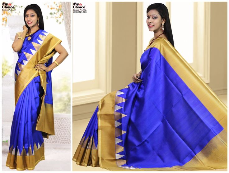 Blue Color Chanderi saree