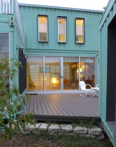 Shipping container house in Flagstaff, AZ. Something we can surely do with the billions of containers --- make housing!